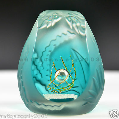 SIGNED CAITHNESS TROPICAL POOL Glass Paperweight MacDonald & Terris LIMITED 100