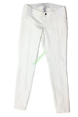 NEW Women's Maternity White Denim Jeans Under Belly Liz Lange NWT XS S M L XL XX