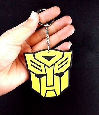 Transformers Autobot Optimus Prime Decepticon Led Bumblebee Rubber Keychain New