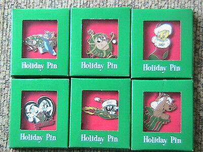1997 Warner Brothers Pins: Tweety Bird, Marvin The Martian, Tom & Jerry, Scooby
