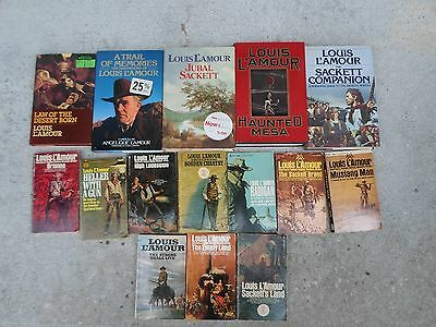 Lot of 15 Louis L'Amour Books Good Collection
