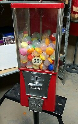 "$.25 Route Used EAGLE 1"" Toy Capsule Gumball Vending Machine w 100 capsules E2"