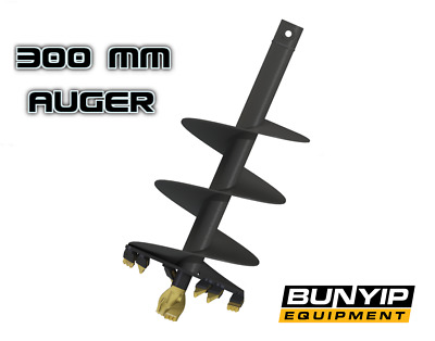 """AUGER TORQUE S4 - 300mm / 12"""" AUGER- 65MM ROUND TO SUIT EARTHDRILL & AUGER DRIVE"""