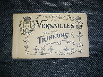 Vintage Post Card Set Versailles And Trianons English And French Text