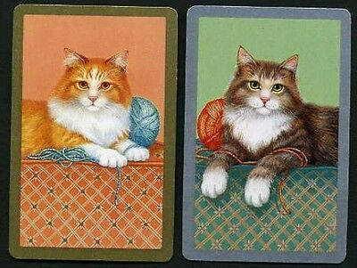CATS WITH WOOL Vintage Playing Swap Cards
