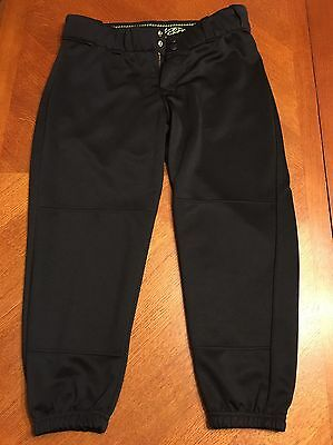 WORTH Fastpitch Experts LOW RISE FASTPITCH SOFTBALL PANTS - L Black NWOT