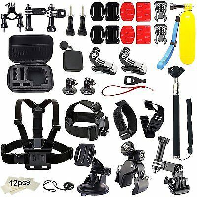 45 in 1 Head Chest Mount Monopod Accessories Kit For GoPro Hero 5 4 3 2 1 Camera