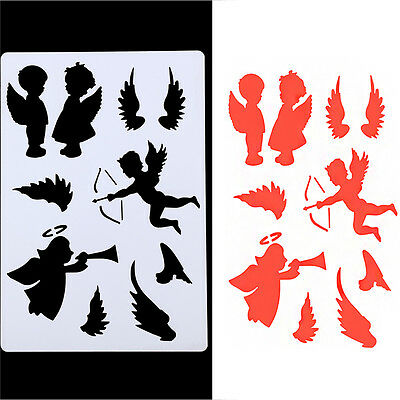 DIY Crafts Angel Layering Stencils Template Painting Scrapbooking Stamps Album
