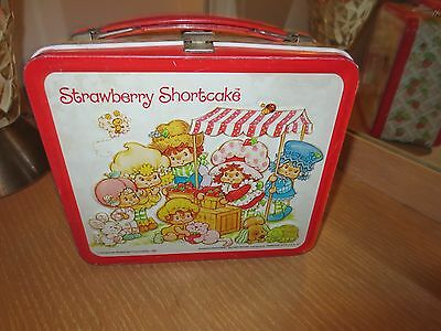 Vintage 1981 Aladdin Strawberry Shortcake Metal Lunch Box  No Thermos