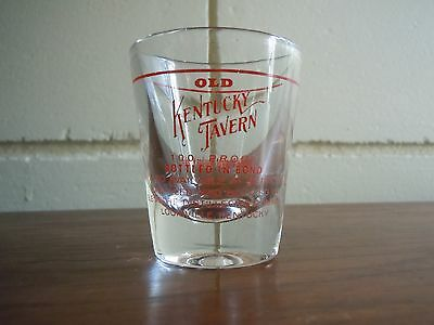 Vintage Old Kentucky Tavern Shot Glass Bourbon Whiskey Liquor Owensboro
