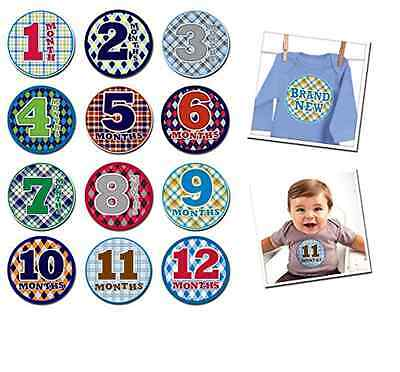 Sticky Bellies Baby Month Stickers - 13 Stickers for Baby's First Year New!