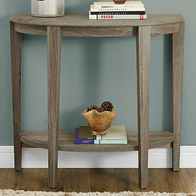 Half Moon Accent Table - Dark Taupe