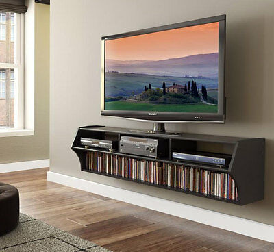 Wall Mounted TV Console - Black
