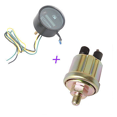 10Bar 150 psi Car Oil Pressure Sensor Sender +12V LED Fuel Meter Gauge