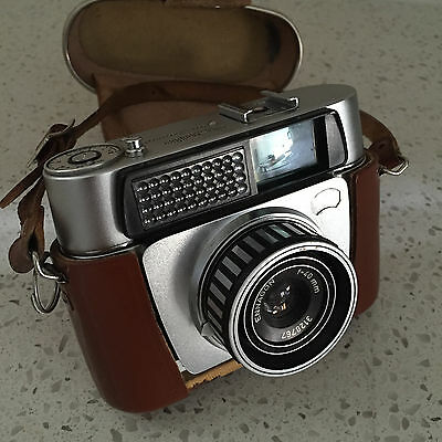 Braun Nurnberg Paxette Electromatic 35mm Camera with Ennagon 40mm Lens & Case