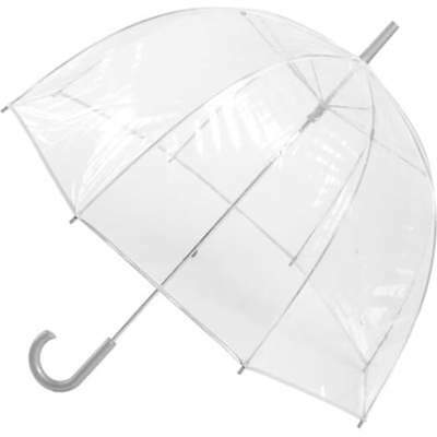 Totes Classic Canopy Clear Bubble Umbrella Solid Rain Protection Polyester Deal