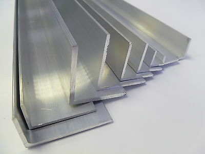 ALUMINIUM EXTRUDED UNEQUAL ANGLE -Various Sizes  20x10-50x25mm 0.5m-3.0m LONG