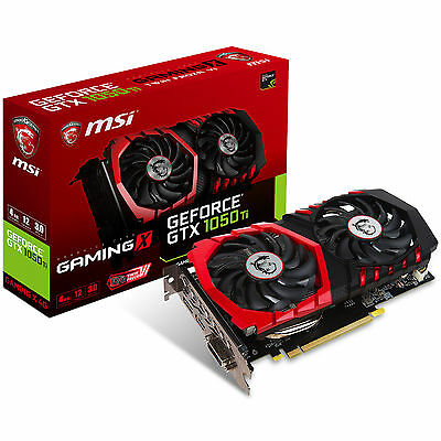 MSI nVidia GeForce GTX 1050 Ti Gaming X OC 4GB GDDR5 Graphics Video Card HDMI DP