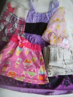 Lot of FIVE (5) BACK TO SCHOOL GIRLS CLOTHES SZ 7-8 Sundress Jeans 3 Skirts EUC!