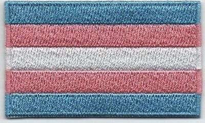 Embroidered TRANSGENDER PRIDE Flag Iron on Sew on Patch  HIGH QUALITY APPLIQUE