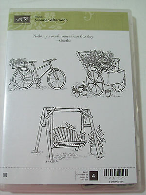 Stampin' Up Summer Afternoon hostess stamp set Lot of 4 stamps watercolouring