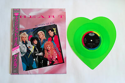 "HEART Nothin' At All JAPAN 10"" GREEN WAX VINYL RECORD 1986 w/OBI S12-1002 L/E"