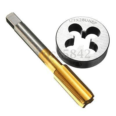 1/2''-28 UNEF Tap & Die Set Titanium Coated HSS Right Hand Thread Cutting Tool