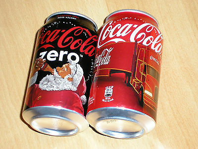 Two nice Coca Cola Christmas cans 0,33 Liter