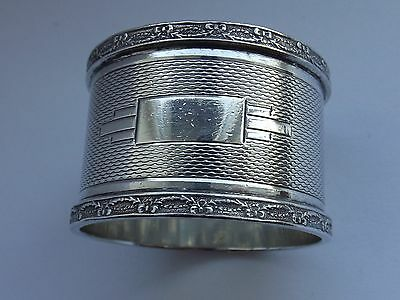 QUALITY HEAVY SOLID SILVER NAPKIN RING 1946 EW HAYWOOD 43g NOT PERSONALISED