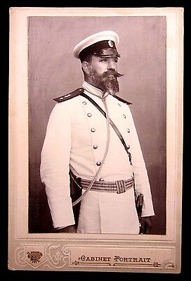 Wwi Vintage Real Photo Bulgarian Military Man, Officer, Soldier Navy Uniform