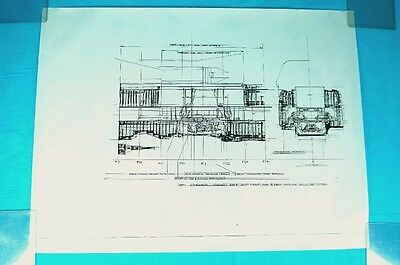 ALIENS original SULACO Sections DROPSHIP blueprint by Syd Mead artwork prop