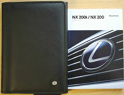 LEXUS NX 200t NX200 HANDBOOK USER GUIDE WALLET 2014-2016 PACK 9927