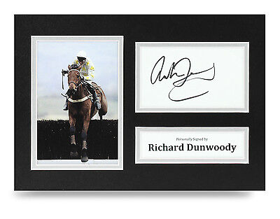 Richard Dunwoody Signed A4 Photo Horse Racing Autograph Display Memorabilia COA