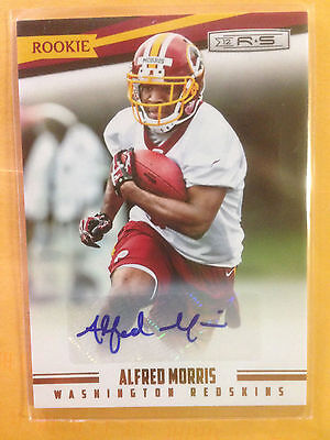 Alfred Morris Autographed Rookie card Redskins/Cowboys #727/999 Panini 2012
