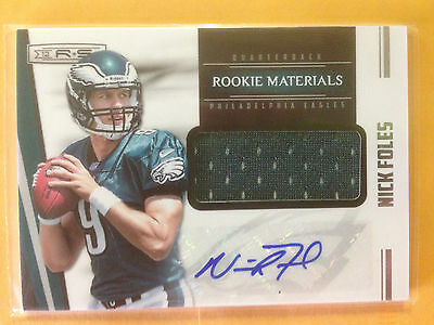 Nick Foles Autographed Rookie jersey card Eagles #207/499 Panini 2012