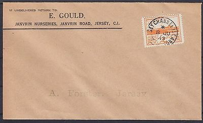 Jersey FDC 6 Brief 08.07.1943, Dt. Besetzung WW II, first day cover