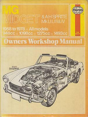 Mg Midget & Austin-Healey Sprite Incl Frogeye 1958 - 1978 Owners Workshop Manual