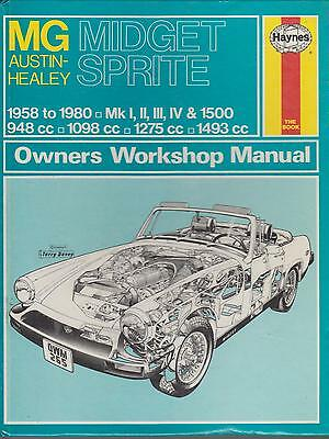 Mg Midget & Austin-Healey Sprite Incl Frogeye 1958 - 1980 Owners Workshop Manual