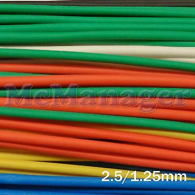 2.5mm 2.5/1.25mm Heat Shrinking Tubes Various  Length Colour Wire  Sleeve