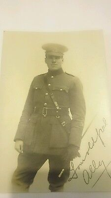 WW1 postcard of Young British Soldier