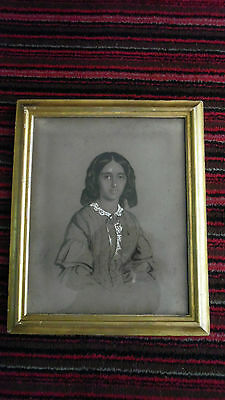 Missionary Auction Fabulous Framed Drawing Signed, Dated 1836
