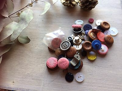 Vintage Buttons Mixed Lot For Crafts