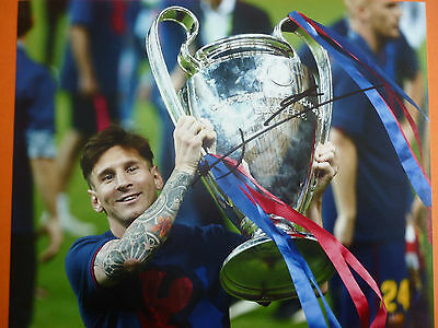 Barcelona Lionel Messi hand signed photo 10x8