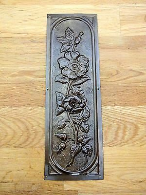 Bronze (Antique Brass) Finish Arts & Crafts Finger Door Push Plates Fingerplate