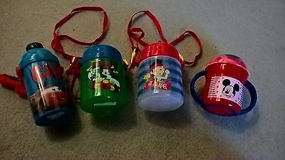 Disney themed kids/ toddler drinking/straw/ sippy cup bundle