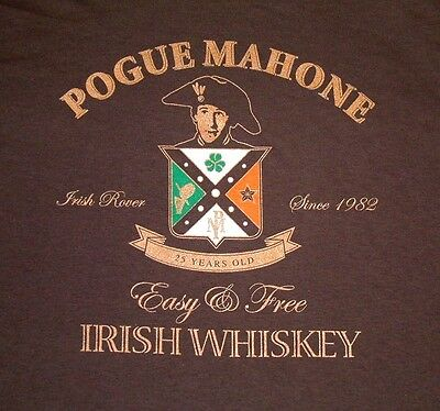 The Pogues / Pogue Malone  25 Years Official Tour T-Shirt Size Large New Rare