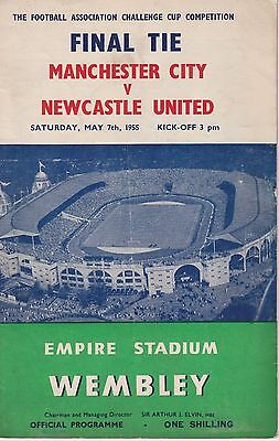 Manchester City V Newcastle United Fa Cup Final ~ 7 May 1955 Original Programme