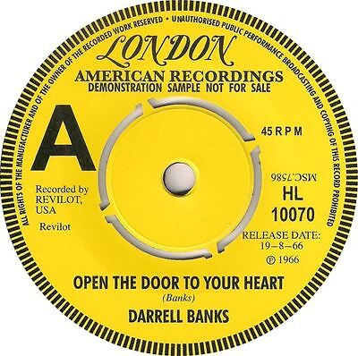 OPEN THE DOOR TO YOUR HEART Darrell Banks  *NORTHERN SOUL*