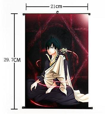 "Hot Japan Anime Fairy Tail Natsu Zeref Home Decor Poster Wall Scroll 8""×12"" 01"