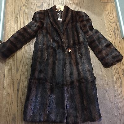 Vintage 50's Real Fur Coat Jacket With Beautiful Strong Shoulders Size 10